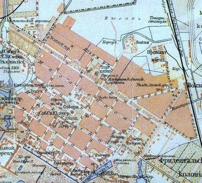 Карта Царского села