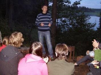Евгений Смирнов выступает на летней школе наблюдателей