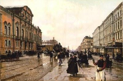 Утром на Невском проспекте