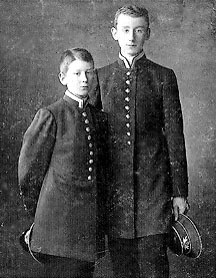 Юзеф и Станислав Чапские гимназисты