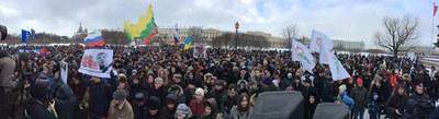 Панорама митинга памяти Бориса Немцова