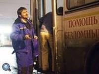 (1) «Автобус милосердия»; (2) Благотворительная акция в стенах Русского музея