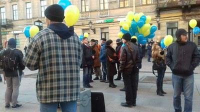 Антивоенная акция в Санкт-Петербурге