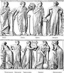 Девять муз древней Греции