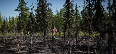 Черный покров тайги (Земля залитая нефтью)