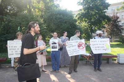 Градооборона: пикет во спасение дома Лермонтова