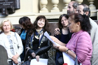 День рождения Бродского отметили у дома Григория Романова