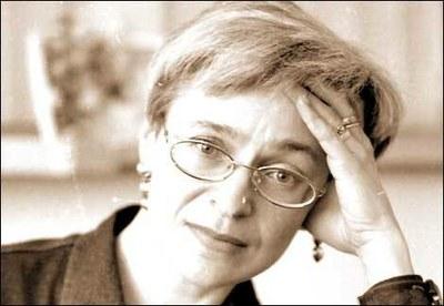Траурная акция памяти Анны Политковской в Петербурге