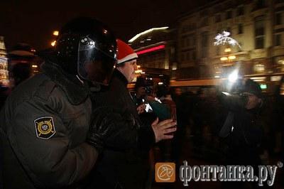 31 декабря 2010 в Петербурге 60 задержанных