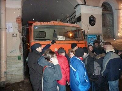 Градозащитники заблокировали Невский 68