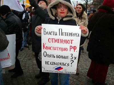 Петербургский закон о митингах противоречит стандартам