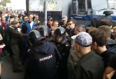В Петербурге более 500 задержанных