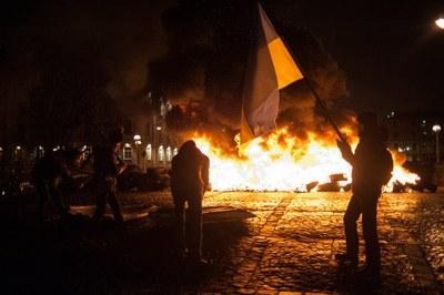 """""""Свобода"""" и память Евромайдана в Петербурге"""