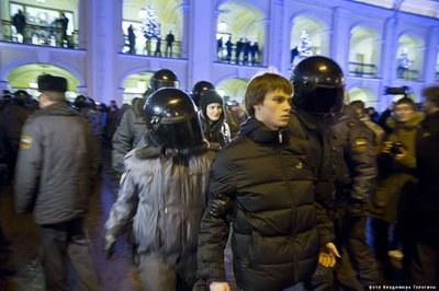 Информационная и правовая поддержка задержанных на акциях протеста после выборов в Петербурге