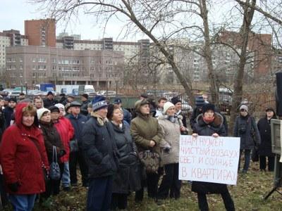 Жители улицы Новикова против уплотнительной застройки