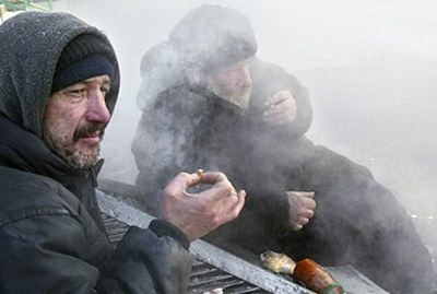 Места обогрева для бездомных в Петербурге