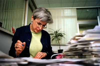 Пятая годовщина гибели Анны Политковской в Петербурге
