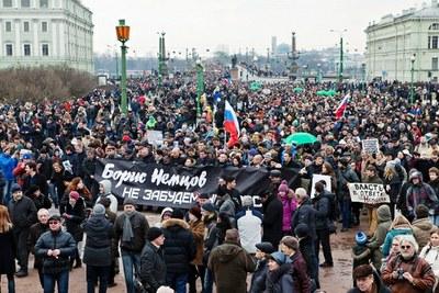 День памяти Бориса Немцова в Петербурге