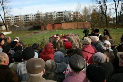 Закладной камень мемориала и будущий музей памяти жертв репрессий в Пскове