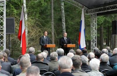 """В.Путин: """"Нас собрала сегодня здесь общая память и скорбь..."""""""