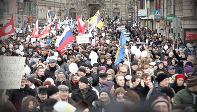 """""""Солидарность"""" выступает против запрета митингов в центре Петербурга"""