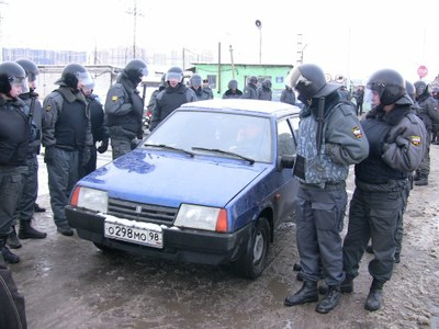Снос гаражей на Парнасе: хроники противостояния в ноябре 2010