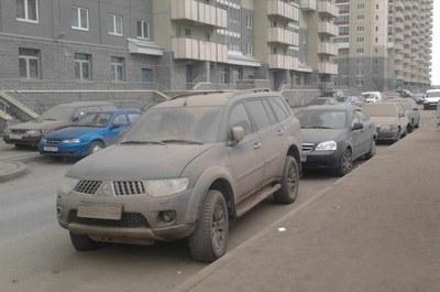 Город задыхается от пыли