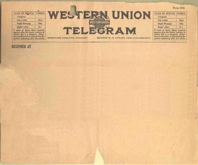 Телеграмма против свай