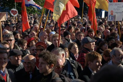 Фоторепортажи: митинг за спасение Петербурга 10 октября 2009